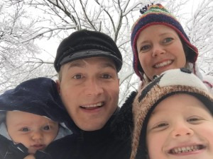Frank and family in some Tennessee snow in January 2016