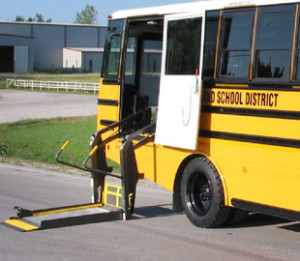 Photo of school bus wIth lift