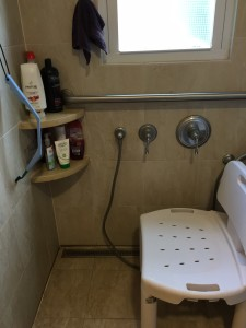 Photo of shower chair inside shower