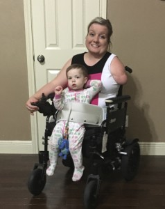 LapBaby used in wheelchair